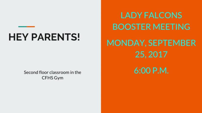 HEY PARENTS! booster meeting 2